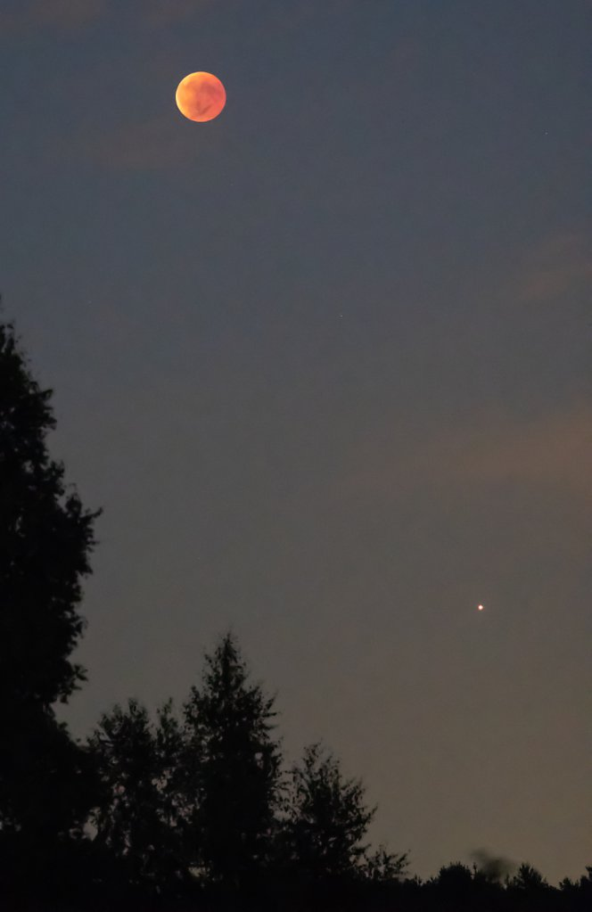 Blood Moon and Mars